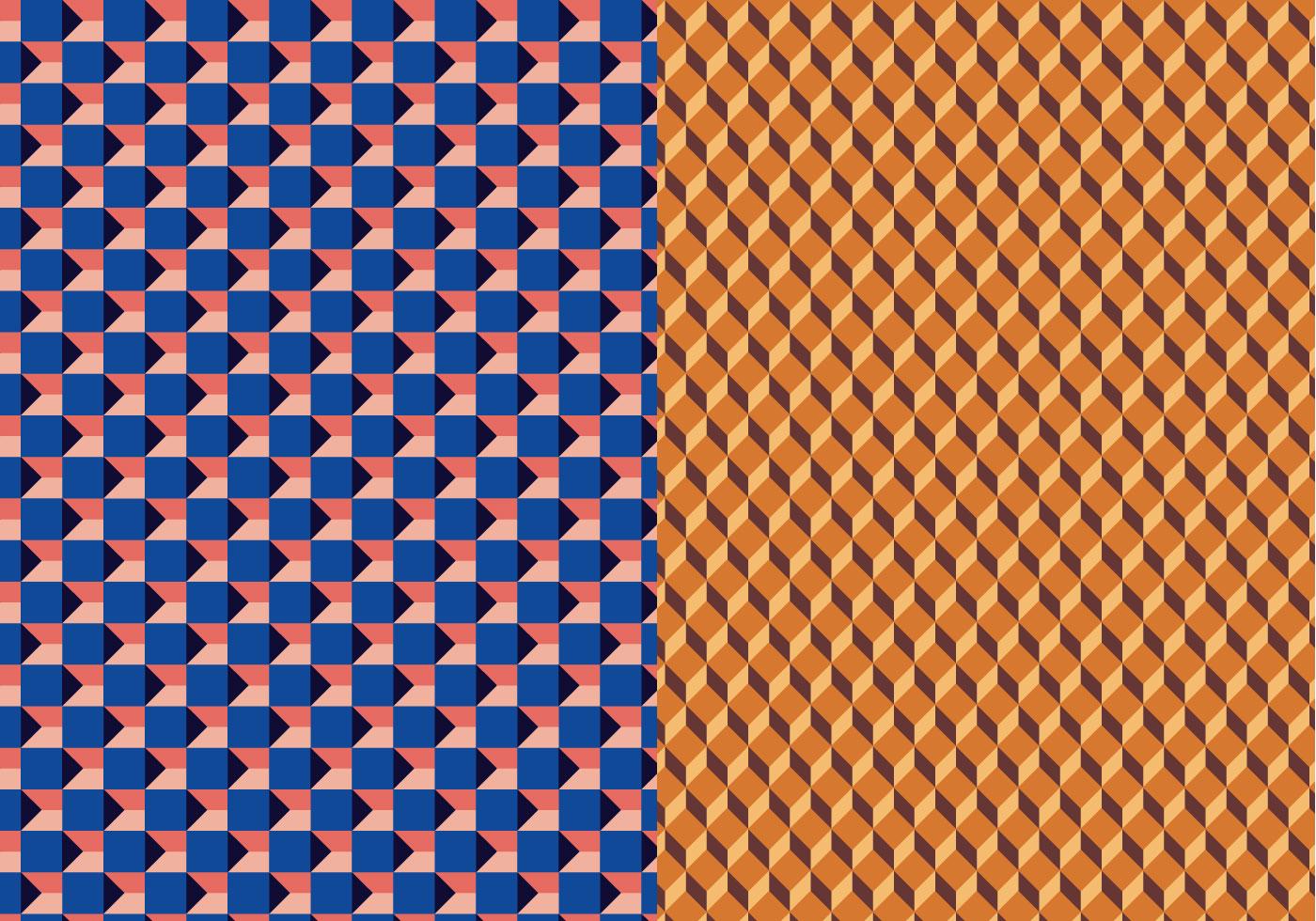 geometric 3d vector pattern download free vector art
