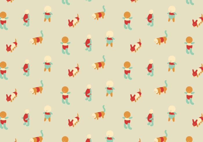 Character Colorful Pattern