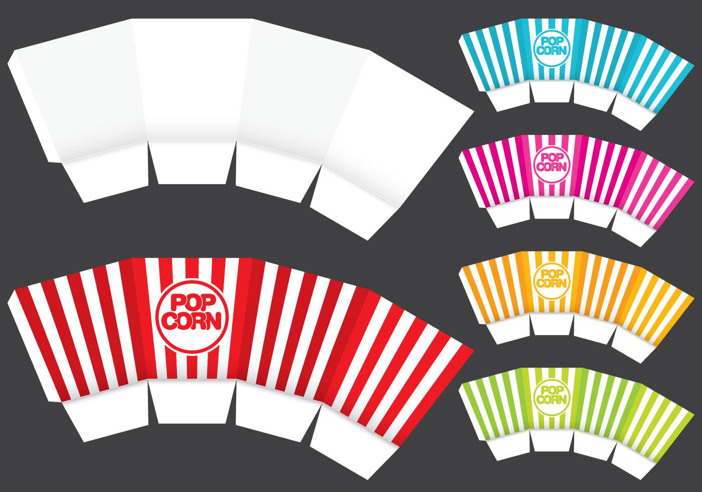 Popcorn Box Template - Download Free Vector Art, Stock Graphics ...