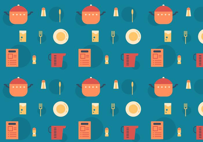 Free Recipe Card Vector Pattern
