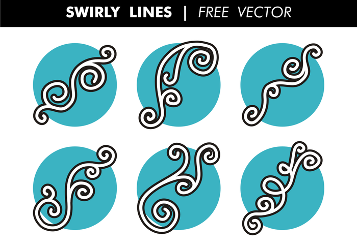 Swirly Lines Gratis Vector