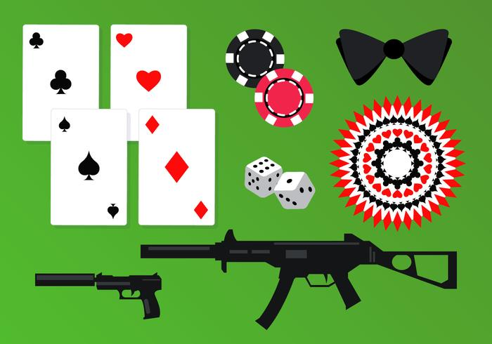 Casino Spy Elements Vector