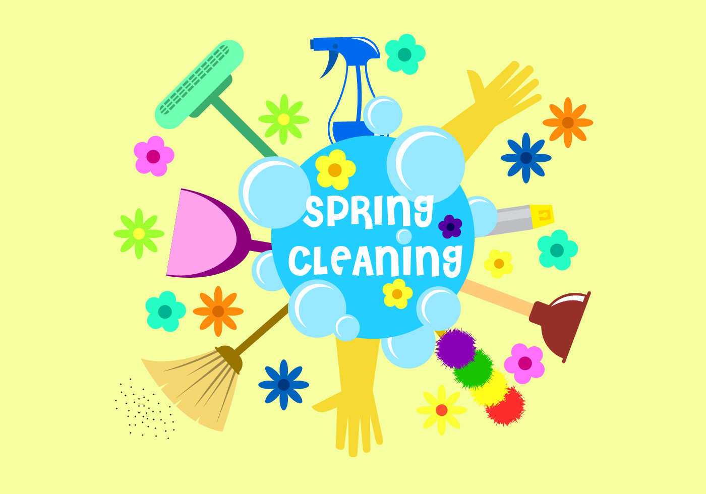Free Spring Cleaning Vector Download Free Vector Art