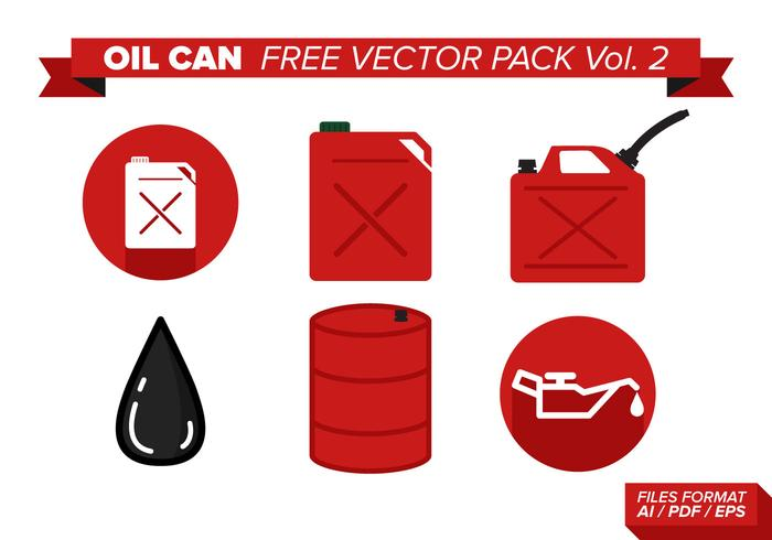Oil Can Free Vector Pack Vol. 2