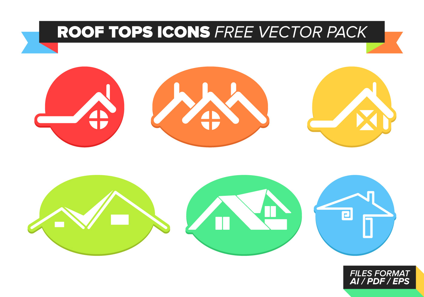 Roof Tops Free Vector Pack Download Free Vector Art