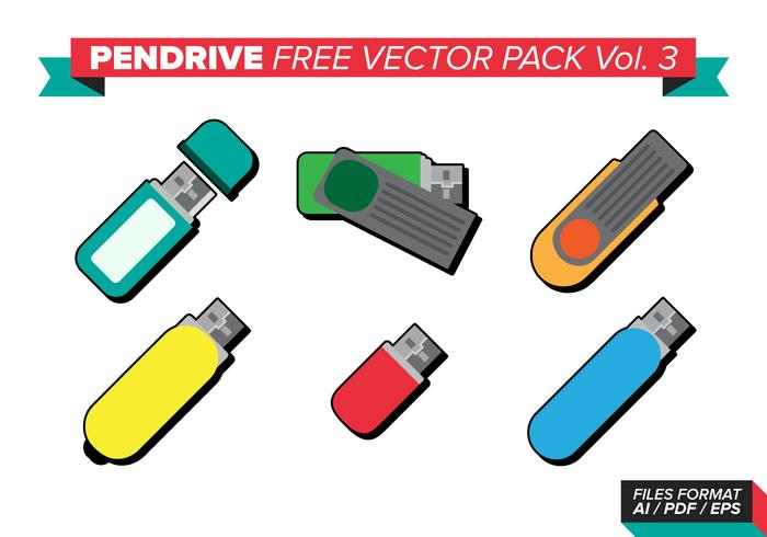 Pen Drive Gratis Vector Pack