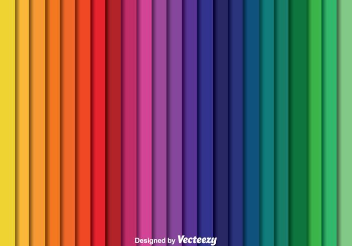 Vector de Swatch de couleurs de rayures