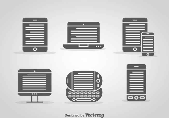 Ereader Vector Set