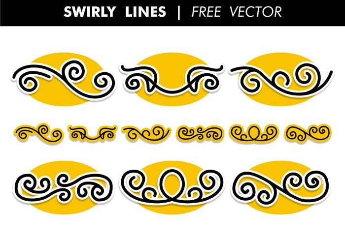 Swirly lines free vector