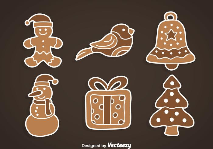 Xmas Gingerbread Collection  vector