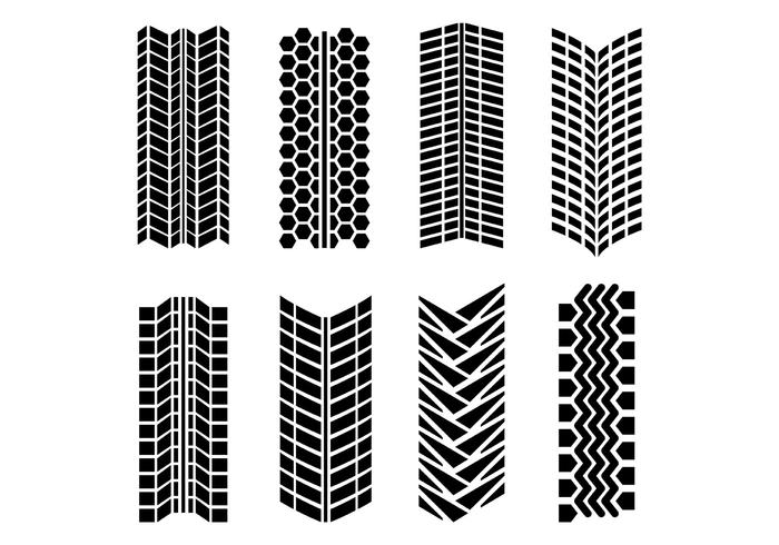 Tire Marks Vector Pack