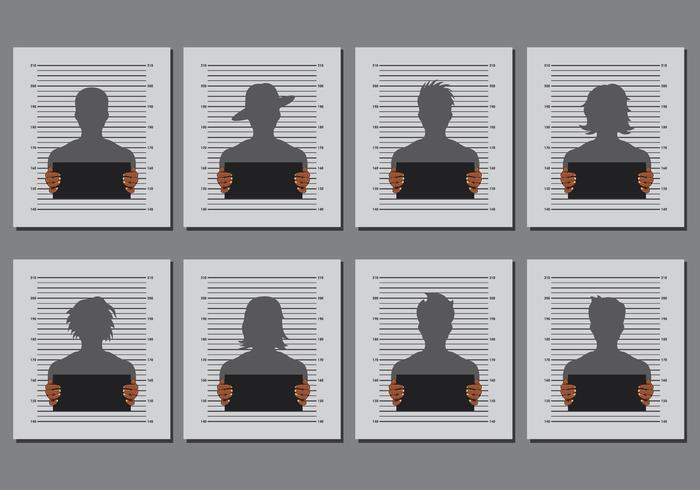 Mugshot Templates Vector