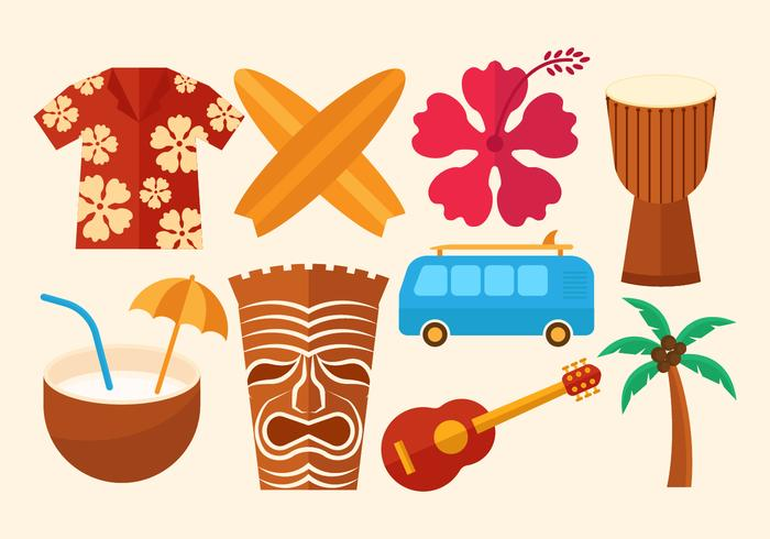 Free Hawaii Vector Icons
