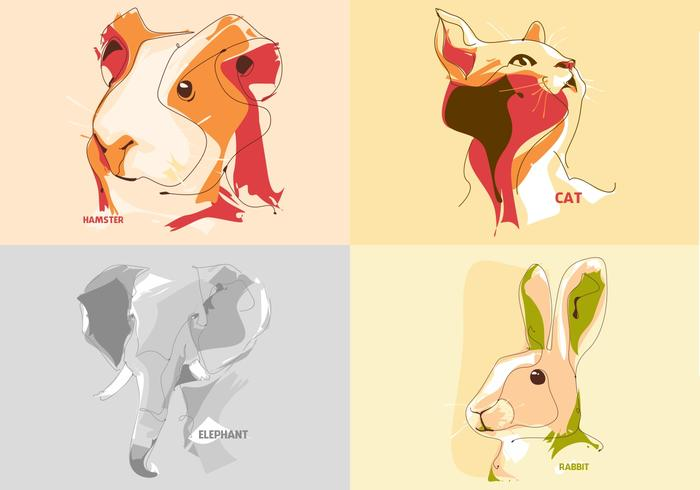 Animales Retrato Vectores