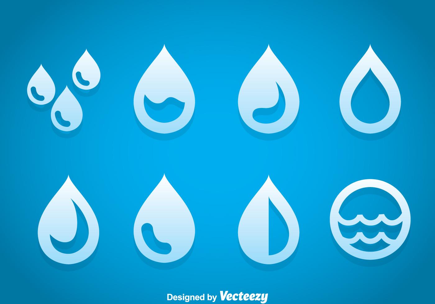 Drop Water Icons Vector Download Free Vector Art Stock