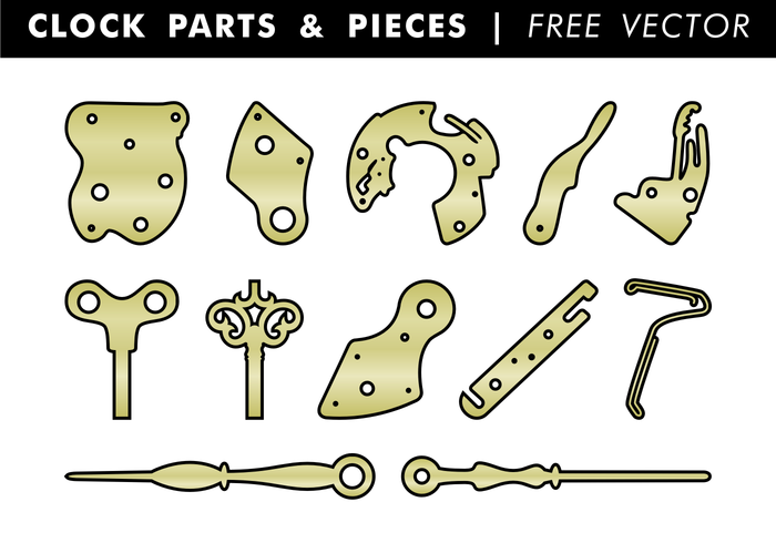Clock Parts & Pieces Free Vector