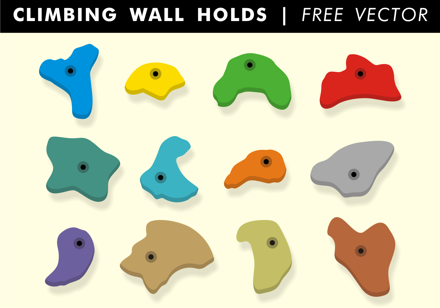 Climbing wall holds free vector download free vector art stock