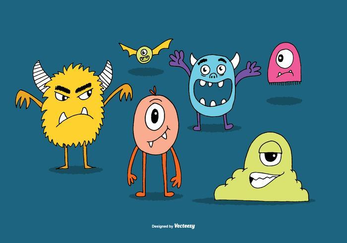 Cute Monster Vectors