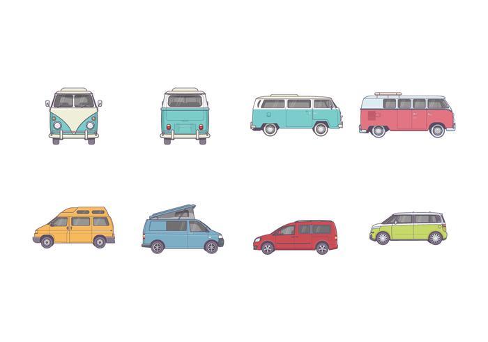 Free VW Camper Vectors