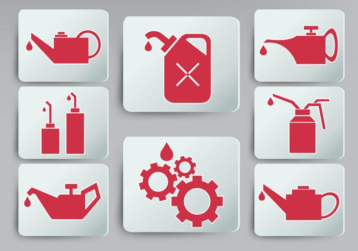 Oil Can Icon Set