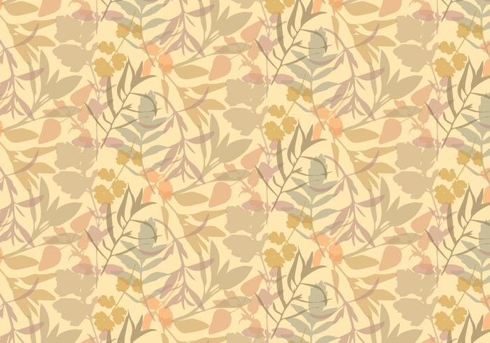 Boho Plants Leafs Pattern