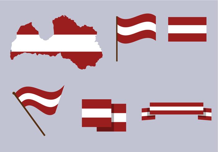Free Latvia Map Vector