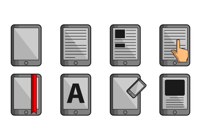 Icona E-Reader vettore