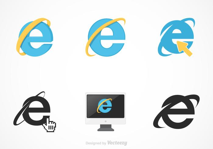 Free Vector Internet Explorer Set