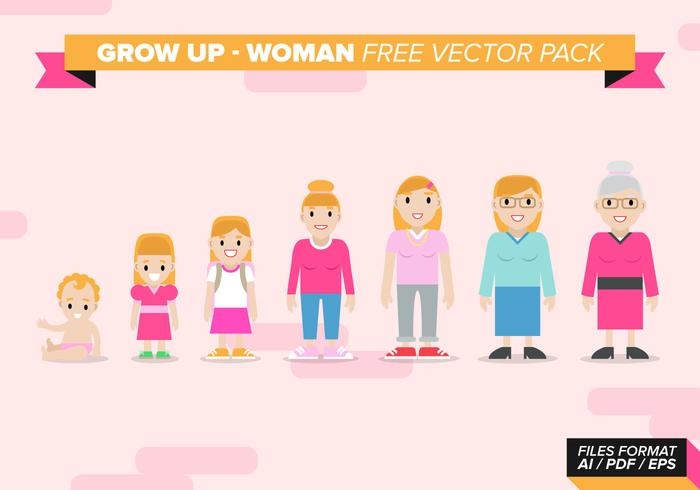 Growing Woman Free Vector Pack