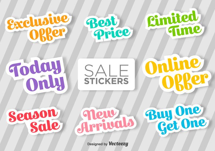 Typographic Sale Vector Stickers