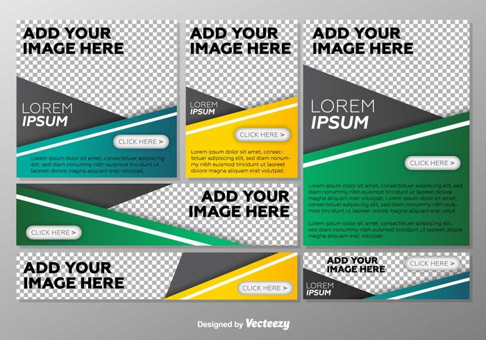 Vector Option Templates Step Banners