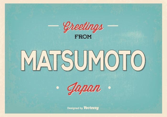 Matsumoto Japan Greeting Illustration