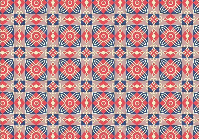 Geometric Tile Pattern Background vector