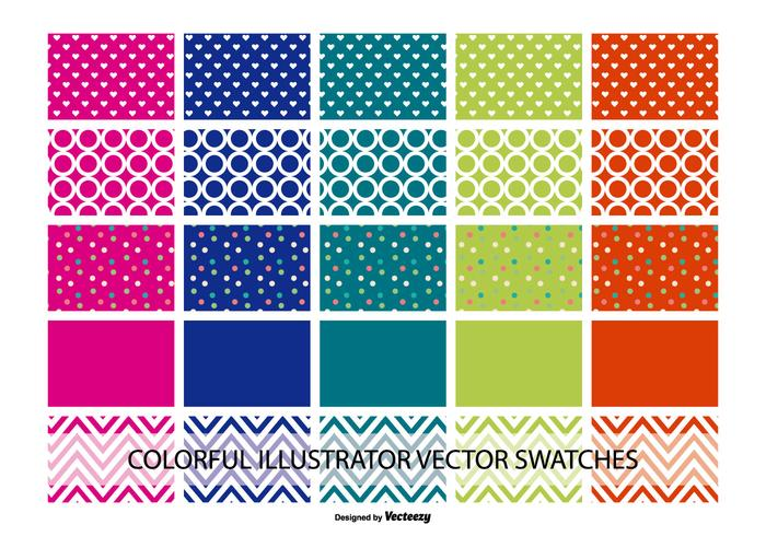 Assorted Illustrator Color and Pattern Swatches