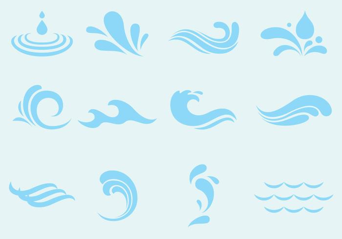 river free vector art 48 280 free downloads https www vecteezy com vector art 112742 vector agua wave and splash icons