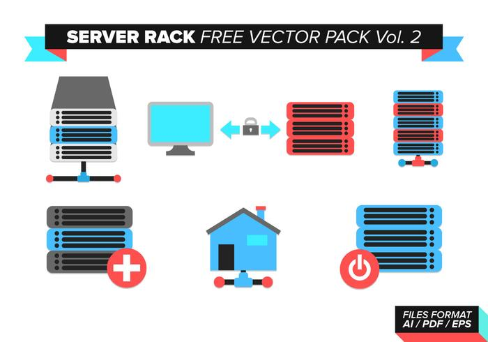Server Rack Gratis Vector Pack Vol. 2