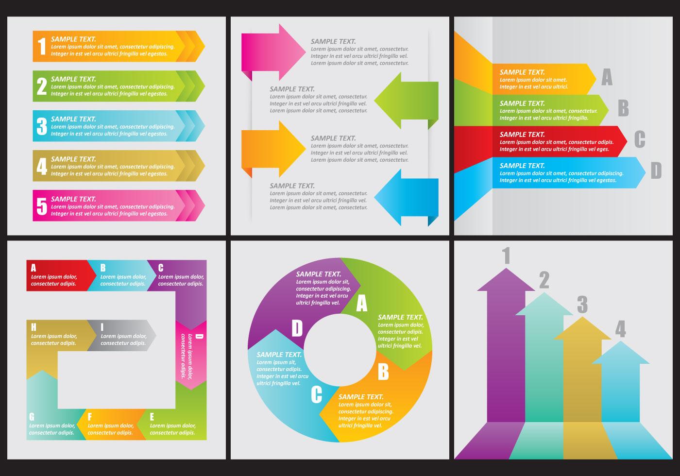 vector flechas arrow infographics