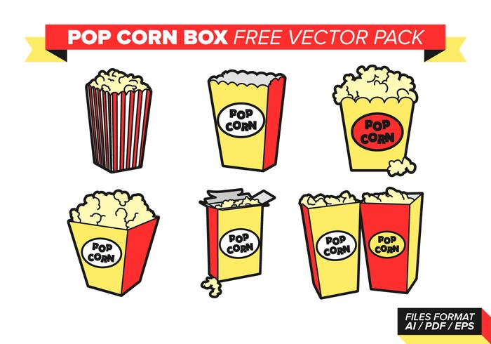 Pop Corn Caja Libre Vector Pack