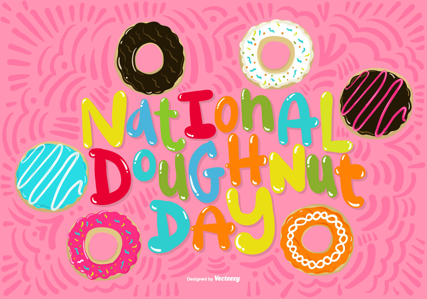 National Doughnut Day Vector - Download Free Vector Art ...