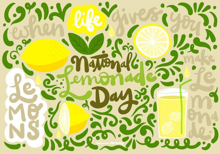 NATIONAL LEMONADE DAY Vector