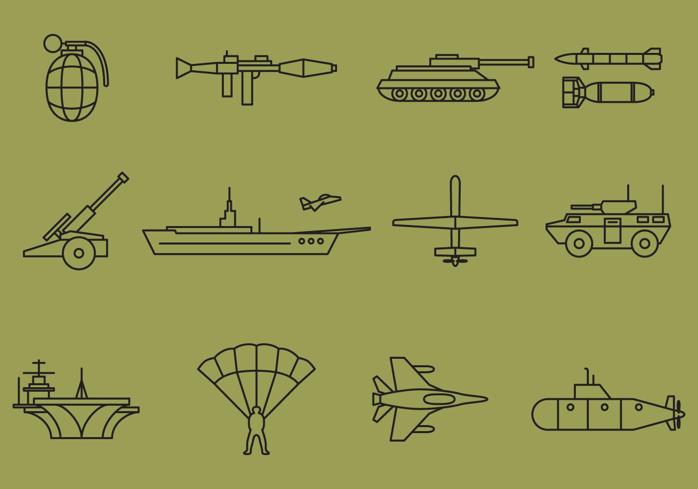 War free vector art 2940 free downloads vector war line icons biocorpaavc Choice Image