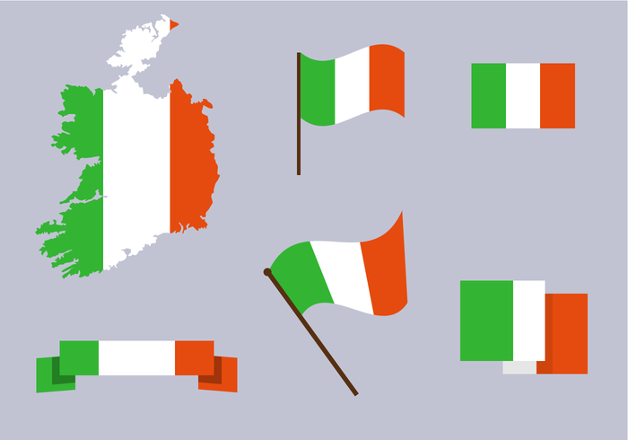Vector livre do mapa da Irlanda