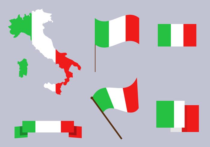 Gratis Italië Kaart Vector