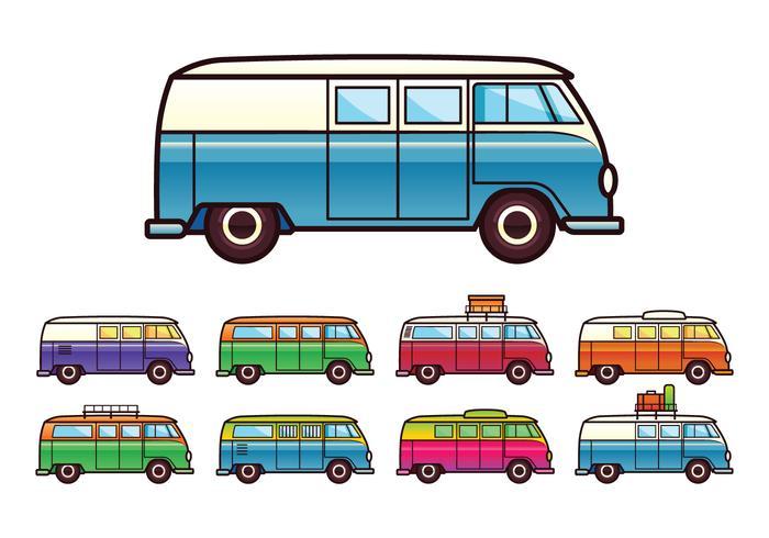 VW Camper Vector gratuit