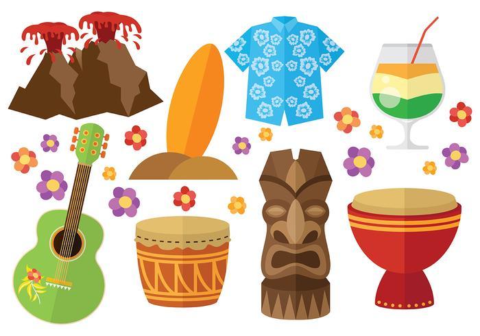Vecteur libre d'icônes d'Hawaii