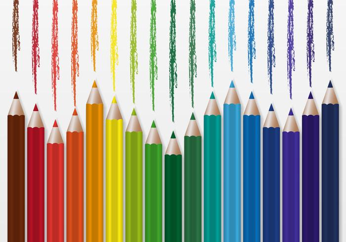 Free Colorful Pencils Vector