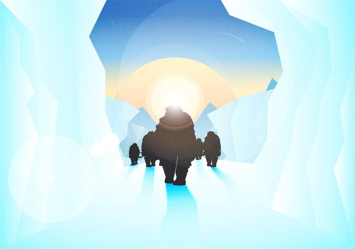 Ice Age Illustration Vector
