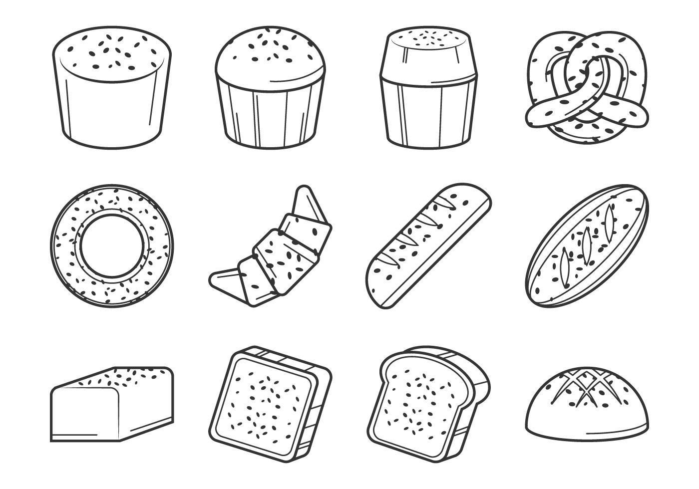 Raisins Bread Vector Download Free Vector Art Stock