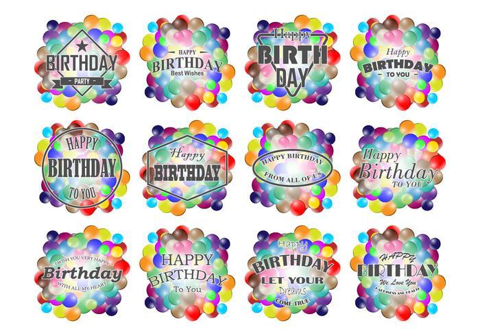 Etiquetas engomadas del cumpleaños de Smarties vector