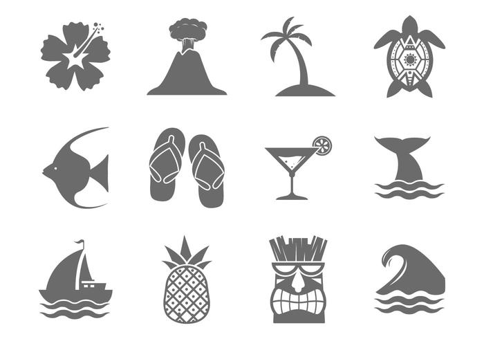 Vecteur hawaïen gratuit